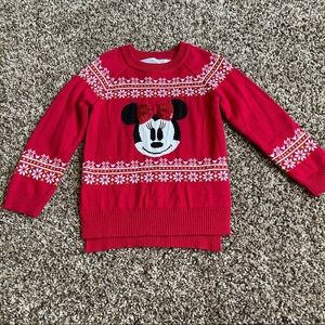 Minnie Mouse Red Christmas Sweater